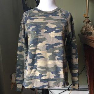 J.Crew Camo Camouflage Sweatshirt Sz S A4378